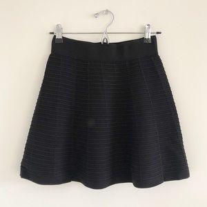 LOFT Black Stretch Knit Pull-On Mini Skirt XXSP